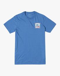 0 VA All The Way Short Sleeve Tee Blue AVYZT00480 RVCA