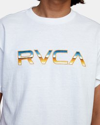 4 Krome Short Sleeve Tee White AVYZT00486 RVCA