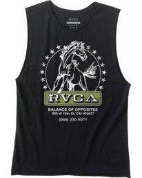 0 Unbroken Muscle Tank Top Black AVYZT00507 RVCA