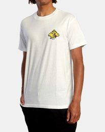 5 Evan Mock   Running Rabbit Short Sleeve Tee White AVYZT00513 RVCA