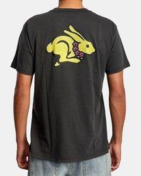 3 Evan Mock   Running Rabbit Short Sleeve Tee Black AVYZT00513 RVCA
