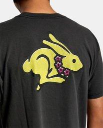 7 Evan Mock   Running Rabbit Short Sleeve Tee Black AVYZT00513 RVCA