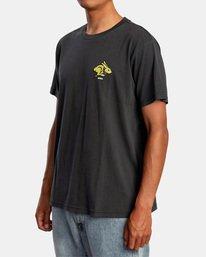 5 Evan Mock   Running Rabbit Short Sleeve Tee Black AVYZT00513 RVCA