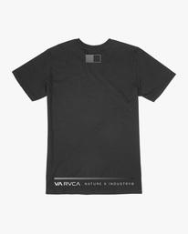 1 Reflective RVCA Balance Box Short Sleeve Tee Black AVYZT00517 RVCA