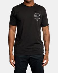 2 Reflective RVCA Balance Box Short Sleeve Tee Black AVYZT00517 RVCA