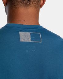 7 Reflective RVCA Balance Box Short Sleeve Tee Blue AVYZT00517 RVCA