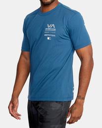 5 Reflective RVCA Balance Box Short Sleeve Tee Blue AVYZT00517 RVCA