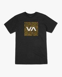 0 VA Box Fill Short Sleeve Tee Black AVYZT00518 RVCA