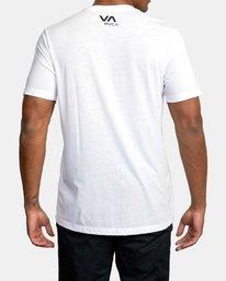 3 VA Box Fill Short Sleeve Tee White AVYZT00518 RVCA