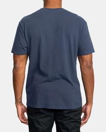 2 Boxing Alma Mater Short Sleeve Tee Blue AVYZT00520 RVCA