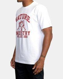 2 Boxing Alma Mater Short Sleeve Tee White AVYZT00520 RVCA