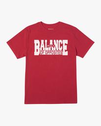 0 RVCA Balance Block Short Sleeve Tee Red AVYZT00521 RVCA