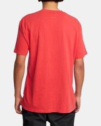 2 RVCA Balance Block Short Sleeve Tee Red AVYZT00521 RVCA