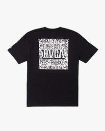 1 Defer   Big Block Short Sleeve Tee Black AVYZT00522 RVCA