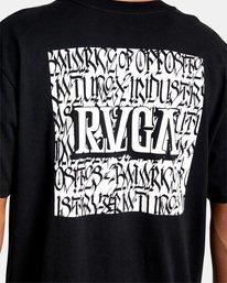 8 Defer   Big Block Short Sleeve Tee Black AVYZT00522 RVCA