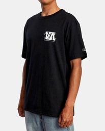 5 Defer   Big Block Short Sleeve Tee Black AVYZT00522 RVCA