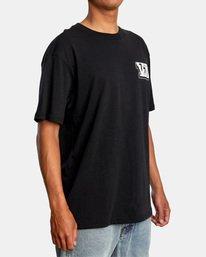 6 Defer   Big Block Short Sleeve Tee Black AVYZT00522 RVCA