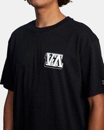 7 Defer   Big Block Short Sleeve Tee Black AVYZT00522 RVCA