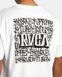 8 Defer | Big Block Short Sleeve Tee White AVYZT00522 RVCA
