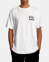 2 Defer | Big Block Short Sleeve Tee White AVYZT00522 RVCA