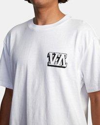7 Defer | Big Block Short Sleeve Tee White AVYZT00522 RVCA