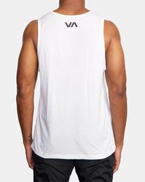 3 VA Sport | Icon Tank Top White AVYZT00524 RVCA