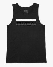 0 Two Bar Tank Top Black AVYZT00525 RVCA