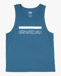 0 Two Bar Tank Top Blue AVYZT00525 RVCA