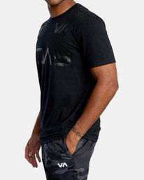4 Billboard Workout Shirt Black AVYZT00530 RVCA