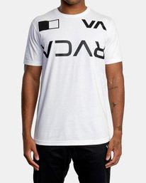 2 Billboard Workout Shirt White AVYZT00530 RVCA