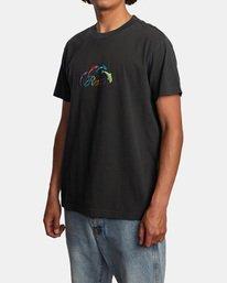 3 Evan Mock | Tourist Dolphin Short Sleeve Tee Black AVYZT00544 RVCA