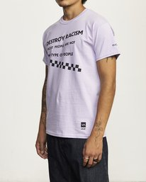 3 DESTROY RACISM TEE Purple AVYZT00547 RVCA