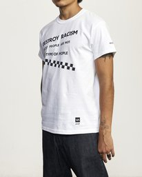 3 DESTROY RACISM TEE White AVYZT00547 RVCA