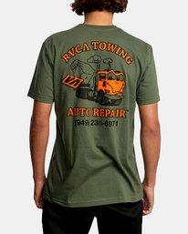 3 Auto Repair Short Sleeve Tee Green AVYZT00550 RVCA
