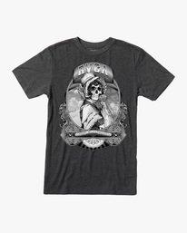 0 George Thompson   Skull Bonnet Short Sleeve Tee Black AVYZT00557 RVCA