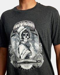 4 George Thompson   Skull Bonnet Short Sleeve Tee Black AVYZT00557 RVCA