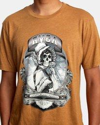 4 George Thompson   Skull Bonnet Short Sleeve Tee Brown AVYZT00557 RVCA