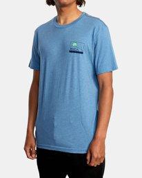 5 Highland Short Sleeve Tee Blue AVYZT00558 RVCA