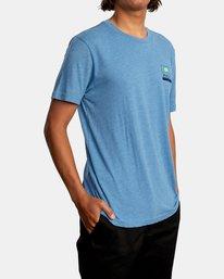 6 Highland Short Sleeve Tee Blue AVYZT00558 RVCA
