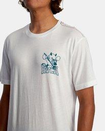 4 RVCA Devils Short Sleeve Tee White AVYZT00560 RVCA