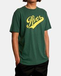 5 Pennant Short Sleeve Tee Green AVYZT00564 RVCA