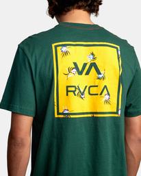 7 VA All The Way Short Sleeve Tee Green AVYZT00566 RVCA