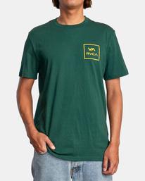 2 VA All The Way Short Sleeve Tee Green AVYZT00566 RVCA