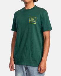 5 VA All The Way Short Sleeve Tee Green AVYZT00566 RVCA