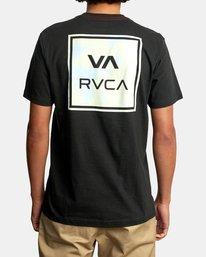 3 VA All The Way Short Sleeve Tee Black AVYZT00566 RVCA