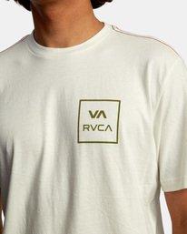 4 VA All The Way Short Sleeve Tee White AVYZT00566 RVCA