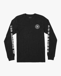 0 Annex Long Sleeve Tee Black AVYZT00568 RVCA