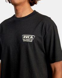 4 Clawed Short Sleeve Tee Black AVYZT00580 RVCA