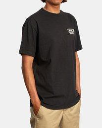 6 Clawed Short Sleeve Tee Black AVYZT00580 RVCA