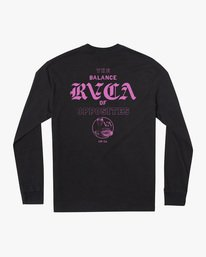 1 Cobra University Long Sleeve Tee Black AVYZT00584 RVCA